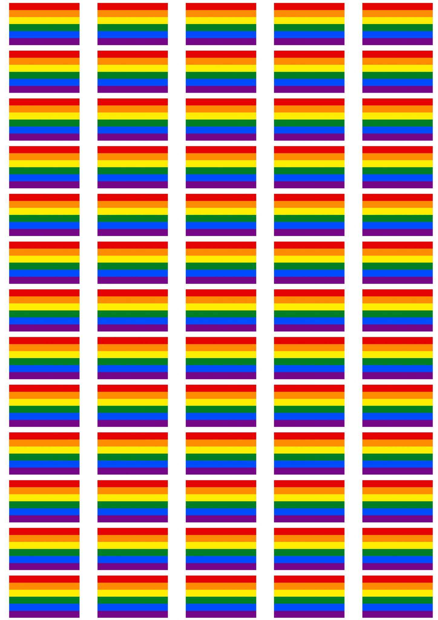 Gay Pride Rainbow Flag Stickers 65 Per Sheet