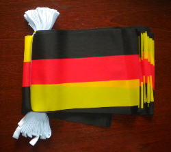 Germany Bunting, rectangular, 9 metre.