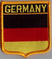 Germany Embroidered Flag Patch, style 06.