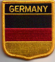 Germany Embroidered Flag Patch, style 07.