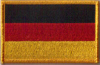 Germany Embroidered Flag Patch, style 08.