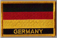 Germany Embroidered Flag Patch, style 09.