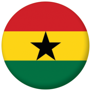 Ghana Country Flag 58mm Mirror
