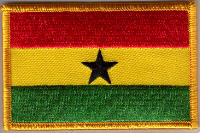 Ghana Embroidered Flag Patch, style 08.
