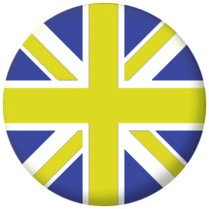 Great Britain Blue and Yellow Flag 58mm Mirror
