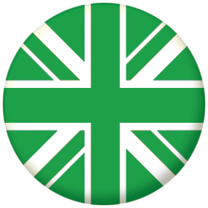 Great Britain Green Flag 58mm Keyring