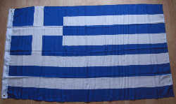 Greece Large Country Flag - 3' x 2'.
