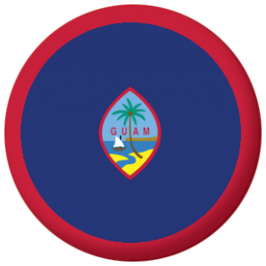 Guam Country Flag 58mm Mirror