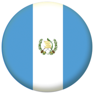 Guatemala Country Flag 58mm Mirror Keyring