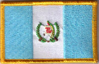 Guatemala Embroidered Flag Patch, style 08