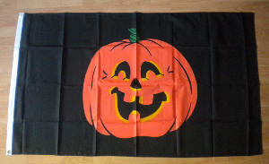 Halloween Pumpkin Large Flag - 3' x 2'.