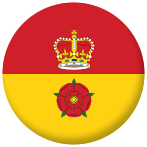 Hampshire County Flag 58mm Keyring