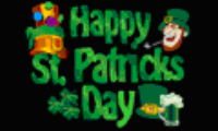 Happy St Patrick's Day (black) Large Flag - 5' x 3'.