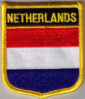 Holland Embroidered Flag Patch, style 07.