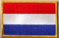 Holland Embroidered Flag Patch, style 08.