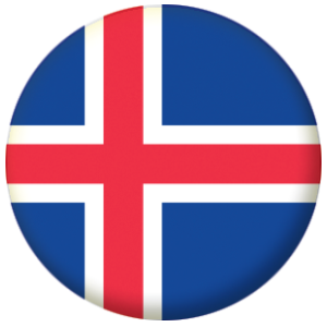 Iceland Country Flag 58mm Mirror
