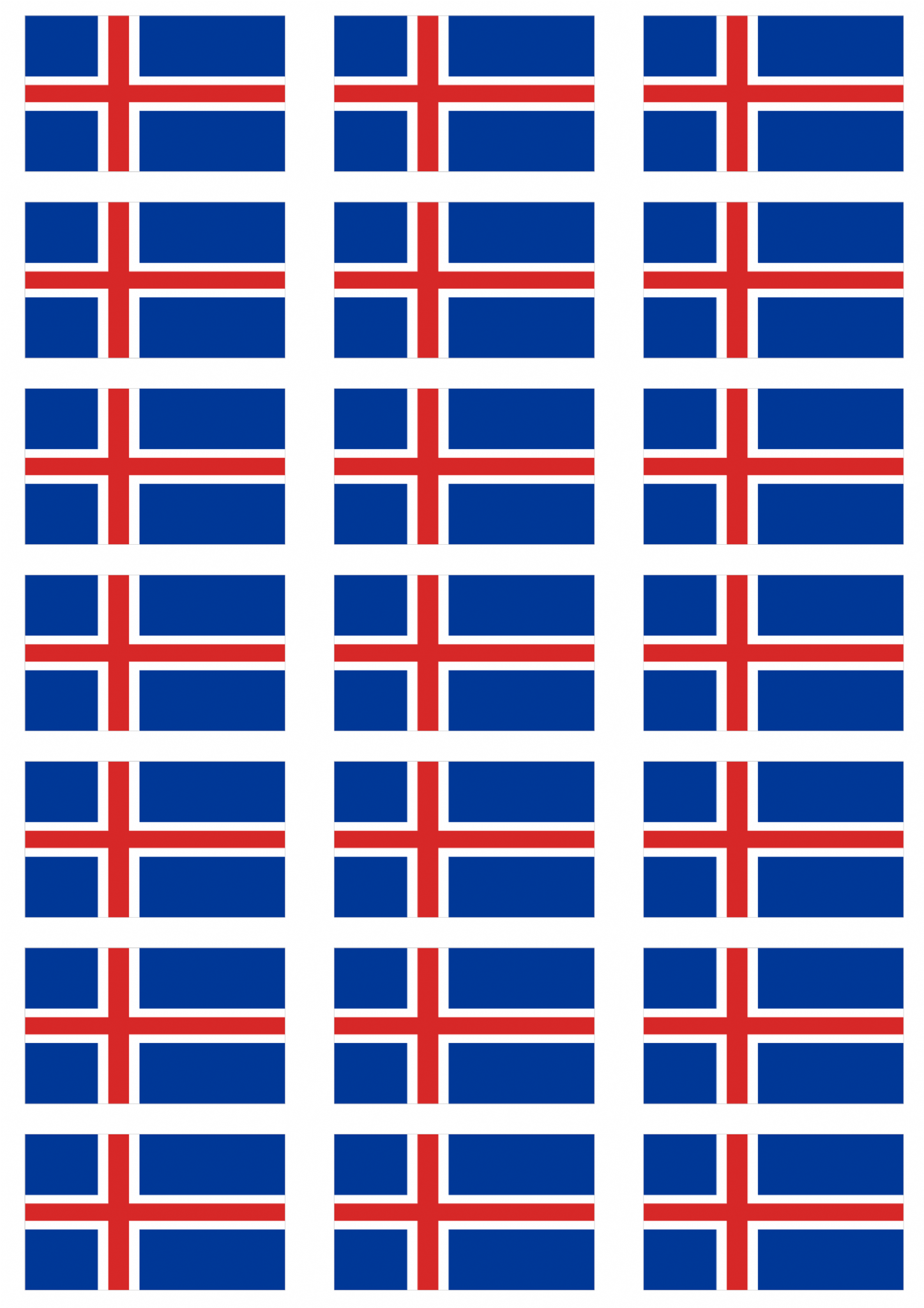 Iceland flag stickers 21 per sheet 106194 p png
