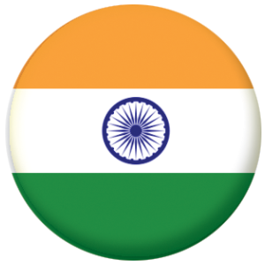 India Country Flag 58mm Mirror