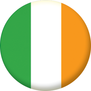 Ireland Country Flag 25mm Pin Button Badge