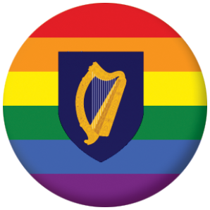 Ireland Gay Pride Flag Button Badge