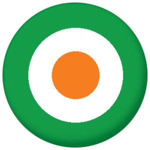 Ireland Roundel Flag 25mm Button Badge