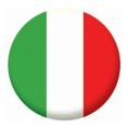 Italy Button Badges - 25mm
