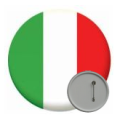Italy Button Badges - 58mm