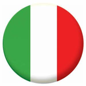 Italy Country Flag 58mm Mirror