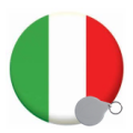 Italy Keyrings - 58mm