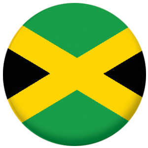 Jamaica Country Flag 58mm Mirror