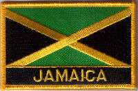 Jamaica Embroidered Flag Patch, style 09.