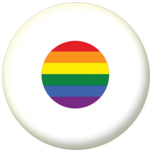 Japan Gay Pride Flag Button Badge