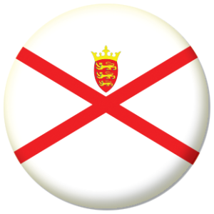 Jersey Island Flag 58mm Button Badge