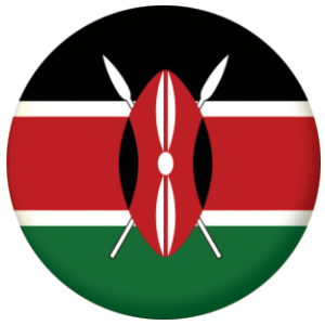 Kenya Country Flag 58mm Mirror