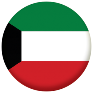 Kuwait Country Flag 25mm Pin Button Badge