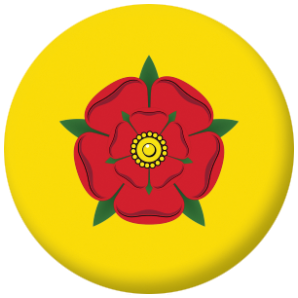 Lancashire County Flag 58mm Button Badge