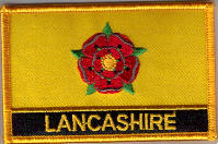 Lancashire Embroidered Flag Patch, style 09.