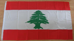 Lebanon Large Country Flag - 3' x 2'.