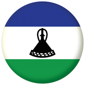 Lesotho Country Flag 58mm Mirror
