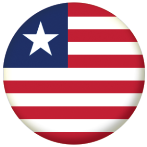Liberia Country Flag 58mm Mirror
