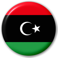 Libya Country Flag 58mm Mirror.