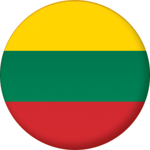 Lithuania Country Flag 58mm Mirror