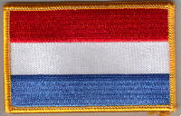 Luxembourg Embroidered Flag Patch, style 08.