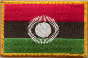Malawi 2010 Embroidered Flag Patch, style 08.