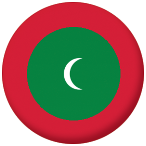 Maldives Country Flag 58mm Mirror