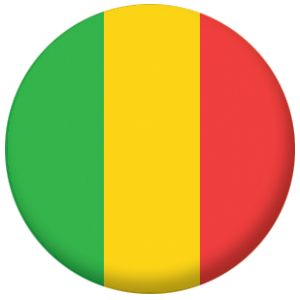 Mali Country Flag 58mm Button Badge