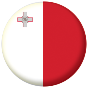 Malta Country Flag 58mm Mirror