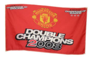 Manchester Utd Football Club Large Flag style 5 - 5' x 3'.