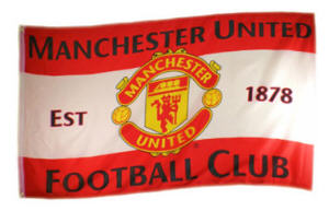 Manchester Utd Football Club Large Flag style 6 - 5' x 3'.