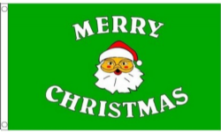 by MadAboutFlags 5 x 3 Christmas Scene Large Flag